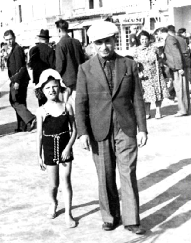 Abraham Kreps (et sa fille Rose? sd, sl). Archives familiales