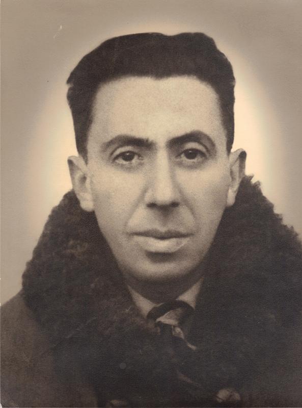 Joseph Szajn en 1941 (au camp de Beaune-la-Rolande?). Archives familiales