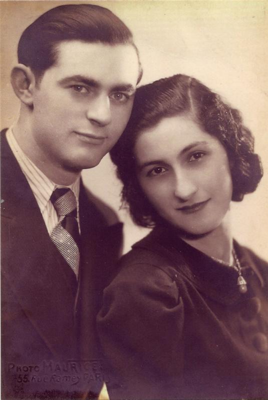 Henoch (Henri) Rausch et Tatiana, son épouse (sd, sl). Archives familiales