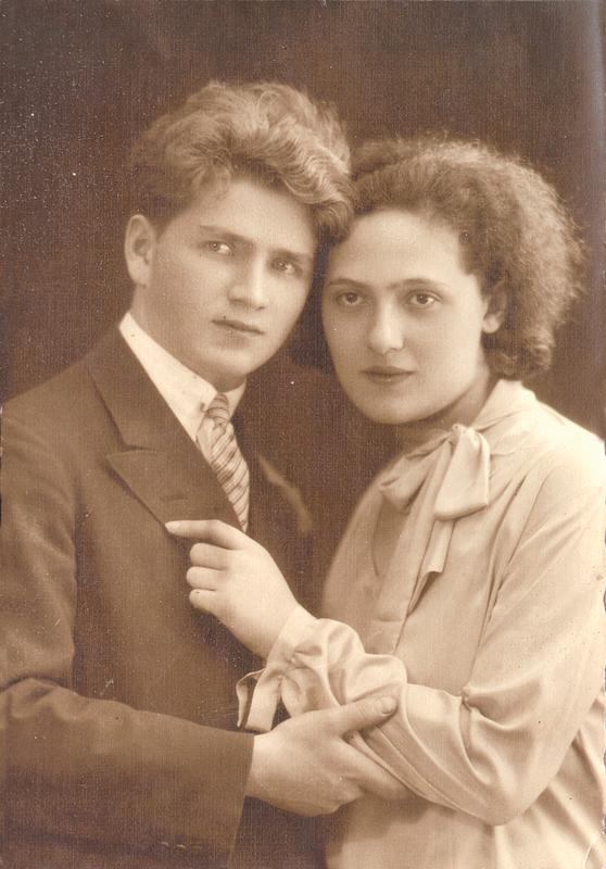 Zygmunt (Szmul) Jungchauz et sa femme Sarah (1929, sl). Archives familiales
