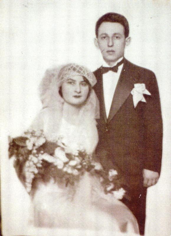 Photo de mariage de Szaja et Dwojra Konsens. Archives familiales