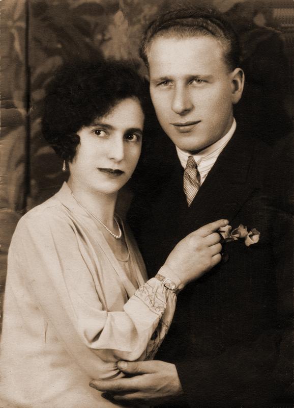 Isaac et Gitla Pfefer en 1935. Archives familiales