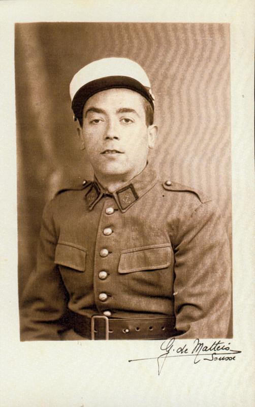 Pessah Piwnika, engagé volontaire (1939-1940, Sousse). Archives familiales