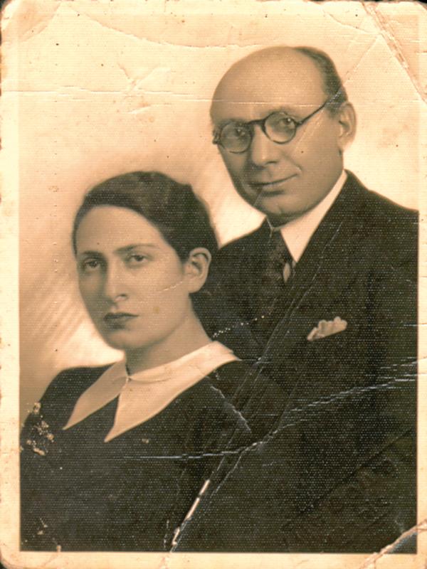 Israël Cendorf et son épouse Sarah-Fajga, dite Stella (mars 1941). Archives familiales