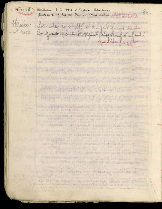 Extrait du registre des internés du camp de Beaune-la-Rolande (1941-juillet 1942). Archives départementales du Loiret – 175 W 34120'