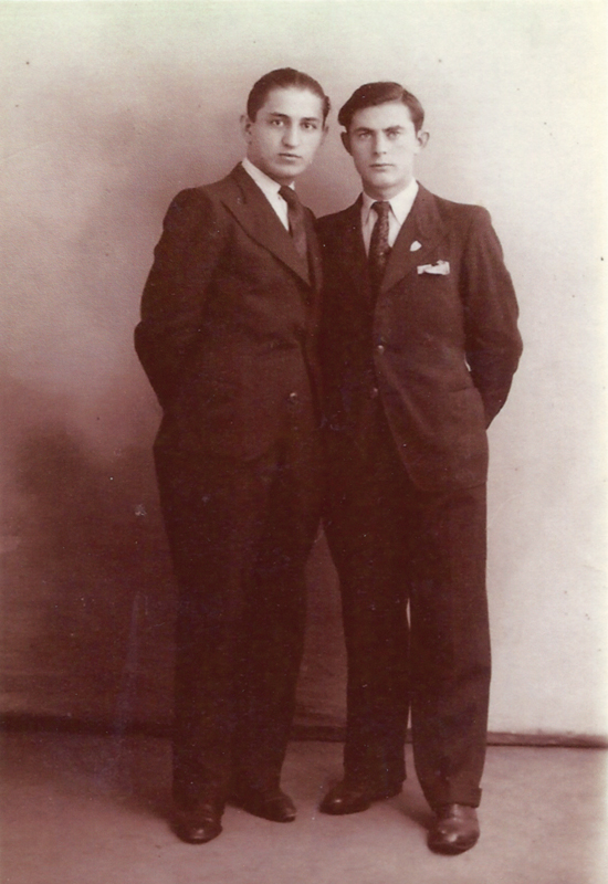 Henoch (Henri) Rausch, à droite (sd, sl). Archives familiales