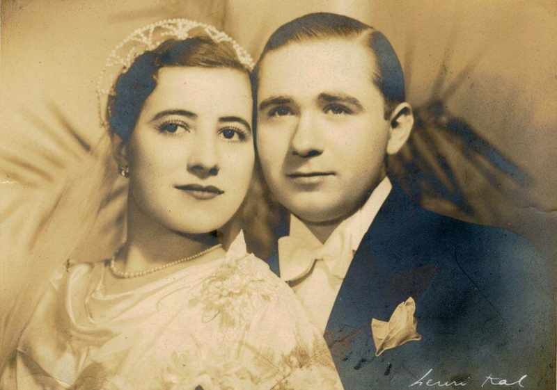 Photo de mariage de Jankiel et Louise Hochberg (1936). Archives familiales