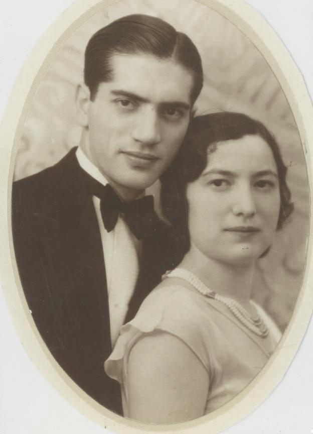 Jacques et Ita Krysztal (sd, sl). Archives familiales