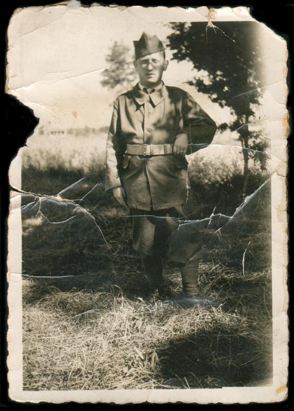 Berek Paserman, engagé volontaire en 1940 à Septfonds. Archives familiales