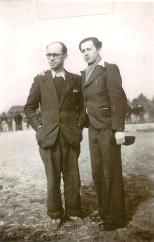 Alfred Hebenstreit et Hirsch Wygoda, à droite (printemps 1942, sd). Archives familiales