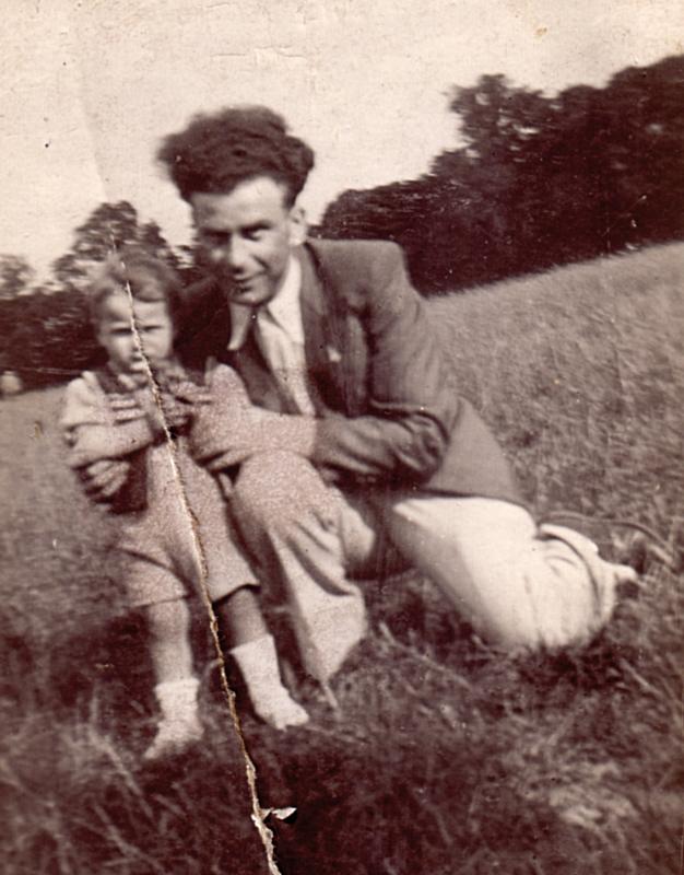 Chil Ostrowiecki et son fils Henri (1939?, sl). Archives familiales