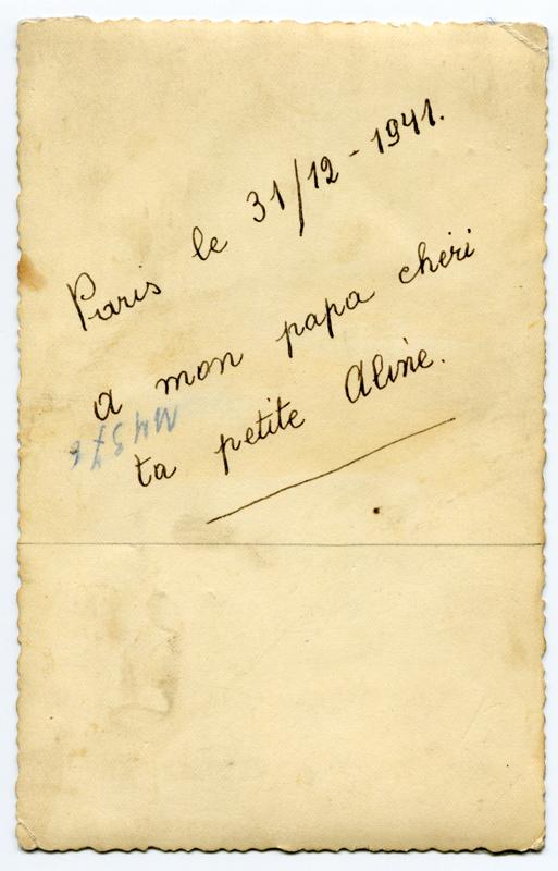 Aline Korenbajzer (1941) Verso. Cercil/fonds famille KORENBAJZER