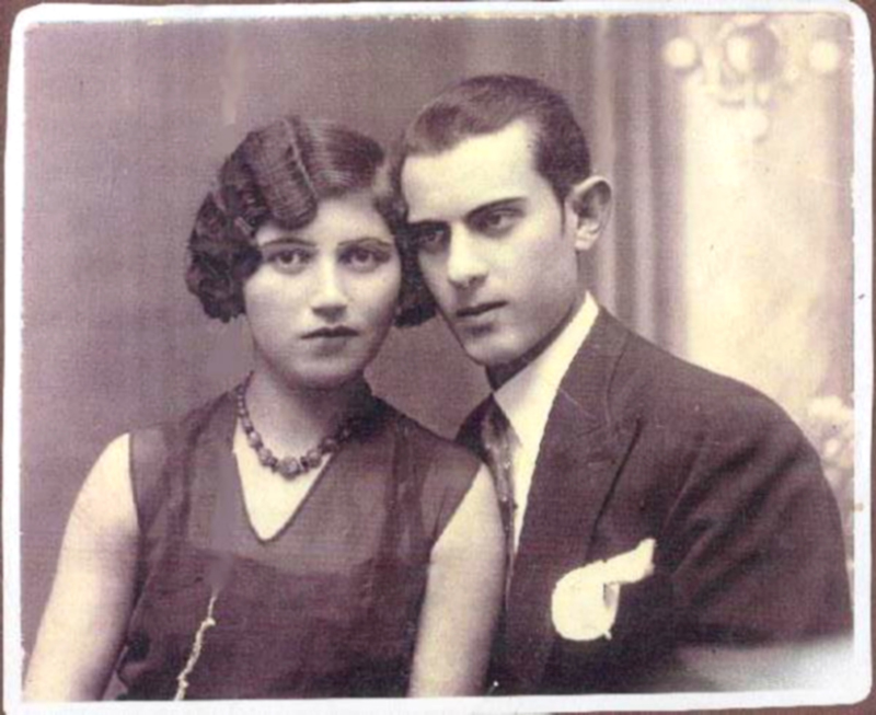 Hercyk Anger et sa femme Sonia (Surah Hesa) (sd). «Ils sont si beaux, ils semblent si amoureux sur cette photo». Archives familiales