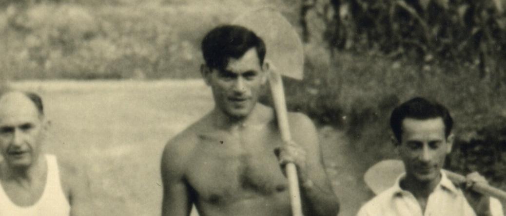 Albert Schlanger, en Suisse, au camp de Mezzovico (15 août 1943). Archives familiales
