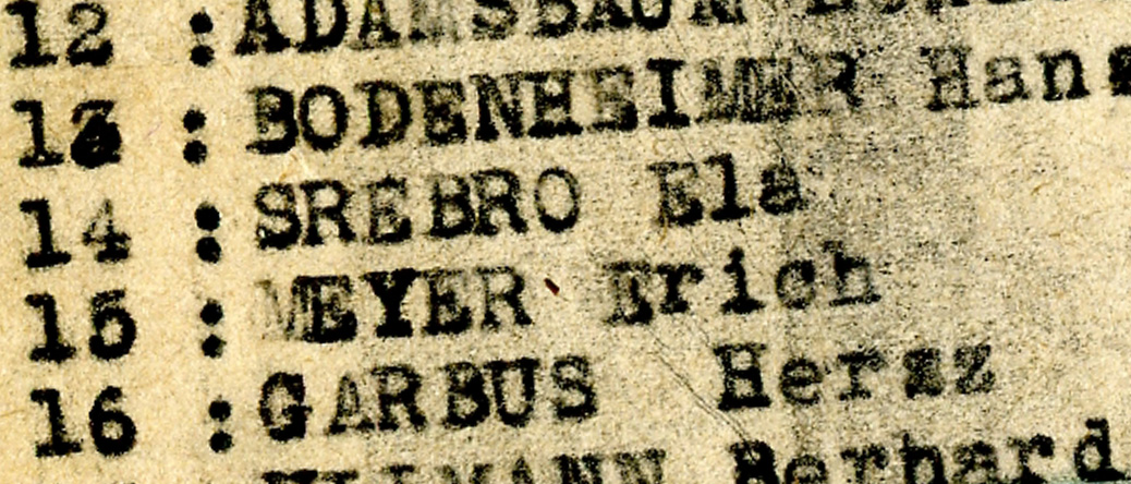 Liste des 17 hommes et 6 femmes venant de Chartres (Eure-et-Loir) internées au camp de Beaune-la-Rolande le 27 juin 1942. Archives départementales du Loiret - 175 W 34121