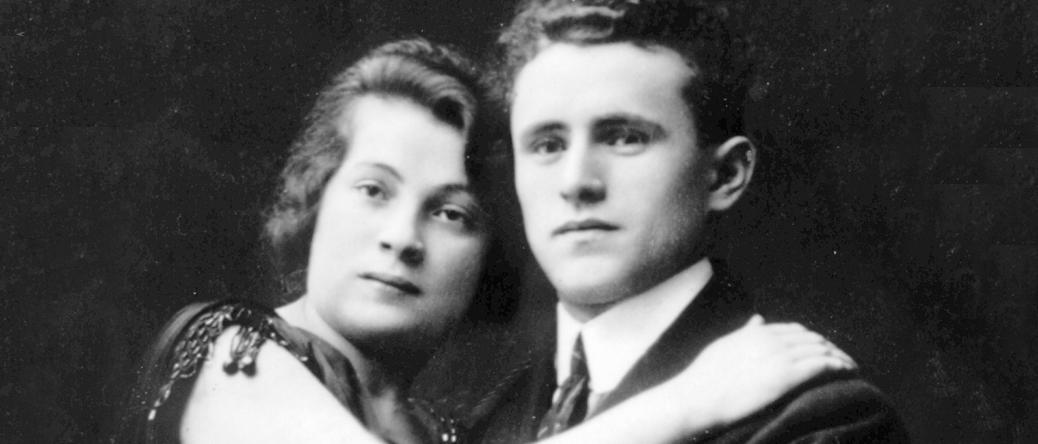 Abraham Gutman et sa femme Ita vers 1920, en Pologne. Archives familiales