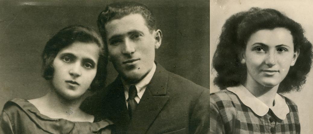 A gauche, Sarah et Judel Borowski. A droite, leur fille Cywja. Archives familiales