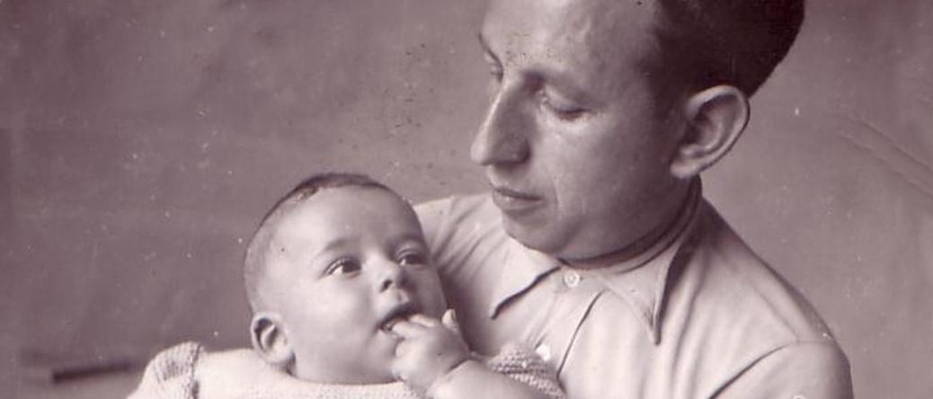 Szaja Konsens et son fils Henri (1937). Archives familiales