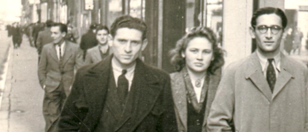 Jacques Mandelbaum, à gauche (sd, sl). Archives familiales