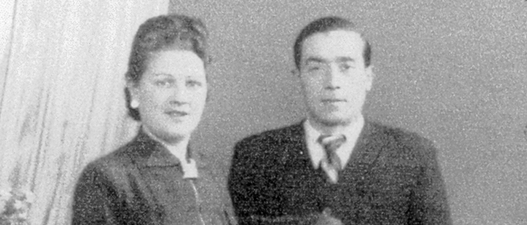 Pessah Piwnika avec sa femme (sd, sl). Archives familiales